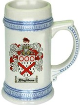 Fitzgibbons Coat of Arms Stein / Family Crest Tankard Mug - $21.99