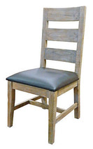 Rustic Agave Chair Solid Wood Western Cabin Lodge Dinning Room Shabby Chic - $232.65