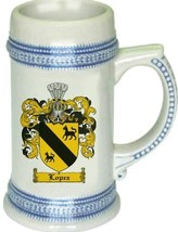 Lopez Coat of Arms Stein / Family Crest Tankard Mug - $21.99