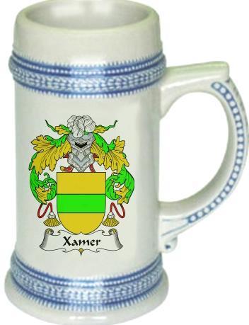 Xamer Coat of Arms Stein / Family Crest Tankard Mug - $21.99