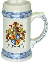 Mentzel Coat of Arms Stein / Family Crest Tankard Mug - $21.99
