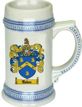 Tabor Coat of Arms Stein / Family Crest Tankard Mug - $21.99