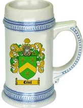 Creel Coat of Arms Stein / Family Crest Tankard Mug - $21.99