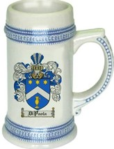 Dipaola Coat of Arms Stein / Family Crest Tankard Mug - $21.99