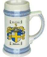 Osburn Coat of Arms Stein / Family Crest Tankard Mug - $21.99
