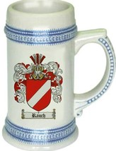 Rauch Coat of Arms Stein / Family Crest Tankard Mug - $21.99