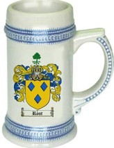 Root Coat of Arms Stein / Family Crest Tankard Mug - $21.99
