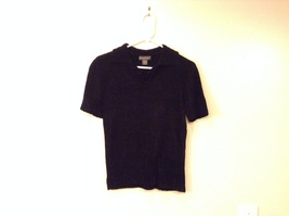 Banana Republic Black 100% Rayon Velvety Feel V-Neck T-shirt Blouse Top, size M