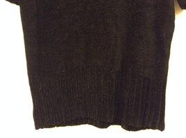 Banana Republic Black 100% Rayon Velvety Feel V-Neck T-shirt Blouse Top, size M image 4