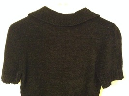 Banana Republic Black 100% Rayon Velvety Feel V-Neck T-shirt Blouse Top, size M image 6
