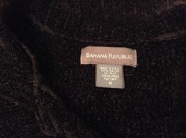 Banana Republic Black 100% Rayon Velvety Feel V-Neck T-shirt Blouse Top, size M image 8