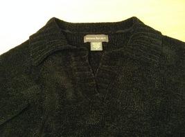 Banana Republic Black 100% Rayon Velvety Feel V-Neck T-shirt Blouse Top, size M image 10
