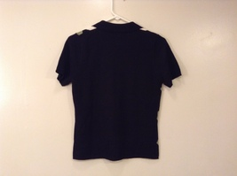 IZOD Ladies Stretch Diamond Pattern on Front V-neck T-shirt Top, size S image 2