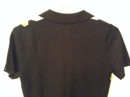 IZOD Ladies Stretch Diamond Pattern on Front V-neck T-shirt Top, size S image 5