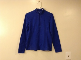 GAP Ladies Faded Royal Blue Sport Stretch Cotton Front Zipper Top, size M image 1