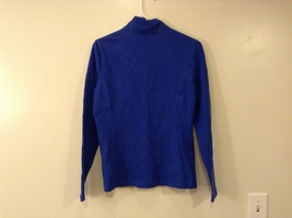 GAP Ladies Faded Royal Blue Sport Stretch Cotton Front Zipper Top, size M image 2