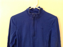 GAP Ladies Faded Royal Blue Sport Stretch Cotton Front Zipper Top, size M image 3