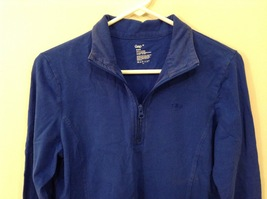 GAP Ladies Faded Royal Blue Sport Stretch Cotton Front Zipper Top, size M image 4