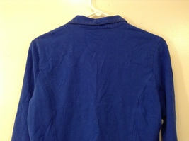 GAP Ladies Faded Royal Blue Sport Stretch Cotton Front Zipper Top, size M image 6
