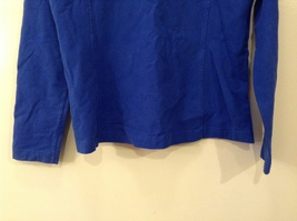 GAP Ladies Faded Royal Blue Sport Stretch Cotton Front Zipper Top, size M image 7