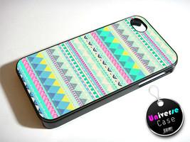 Blue Pink Zig Zag Aztec Pattern iPhone 5 Case Hard Plastic - $15.99