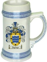 Aguayo Coat of Arms Stein / Family Crest Tankard Mug - $21.99