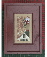 Up On The Roof Top christmas cross stitch chart Drawn Thread - $7.20