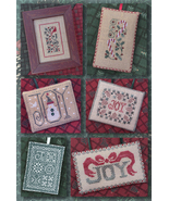 The Joys of Christmas 6 ornaments christmas cross stitch chart Drawn Thread - $9.00