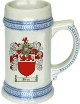 Broc Coat of Arms Stein / Family Crest Tankard Mug - $21.99