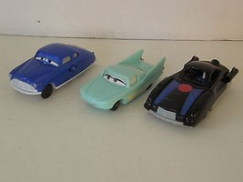 LOT OF 3 DISNEY PIXAR COLLECTIBLE CARS GREEN, BLACK AND BLUE - $8.59