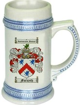 Forsyth Coat of Arms Stein / Family Crest Tankard Mug - $21.99