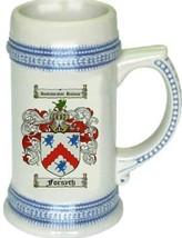 Forsyth Coat of Arms Stein / Family Crest Tankard Mug - $21.99