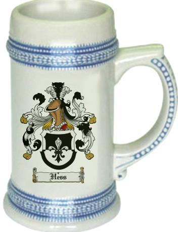 Hess Coat of Arms Stein / Family Crest Tankard Mug