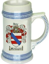 Martyngalle Coat of Arms Stein / Family Crest Tankard Mug - $21.99