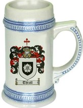 Thrall Coat of Arms Stein / Family Crest Tankard Mug - $21.99