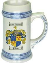 Picott Coat of Arms Stein / Family Crest Tankard Mug - $21.99