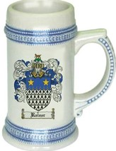 Rainer Coat of Arms Stein / Family Crest Tankard Mug - $21.99