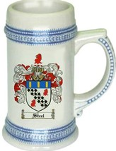 Steel Coat of Arms Stein / Family Crest Tankard Mug - $21.99