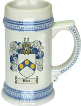 Brad Coat of Arms Stein / Family Crest Tankard Mug - $21.99