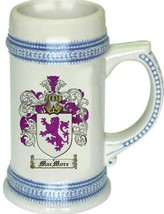 Macmore Coat of Arms Stein / Family Crest Tankard Mug - $21.99