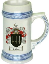 Rollins Coat of Arms Stein / Family Crest Tankard Mug - $21.99