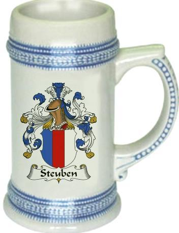 Steuben Coat of Arms Stein / Family Crest Tankard Mug