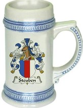 Steuben Coat of Arms Stein / Family Crest Tankard Mug - $21.99
