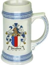 Steuben Coat of Arms Stein / Family Crest Tankard Mug - $21.99