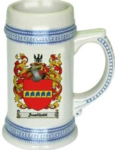 Anzillotti Coat of Arms Stein / Family Crest Tankard Mug - $21.99