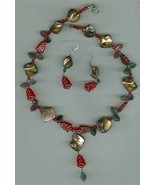 Handmade Holiday beaded necklace set. Free S & H, - $9.99