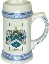 Ashbe Coat of Arms Stein / Family Crest Tankard Mug - $21.99