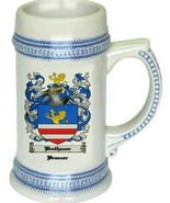 Brethauer Coat of Arms Stein / Family Crest Tankard Mug - $21.99