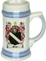 Burras Coat of Arms Stein / Family Crest Tankard Mug - $21.99