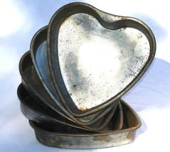 Heart Shaped Cake Pans Vintage Western Germany 1950's - $49.00
